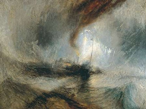 Posterazzi Snow Storm - Steam Boat off a Harbours Mouth Poster Print by William Turner (22 x 28) (Snow Storm Steam Boat Off A Harbours Mouth)