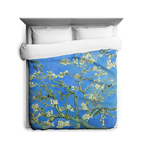 Nature Duvet Cover Floral Tree art by Vincent Van Gogh Almond Branches Bedspread Comforter Sold Separately - Almond Branches