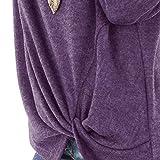 WUAI 2018, Womens Casual Shirts Long Sleeve O-Neck