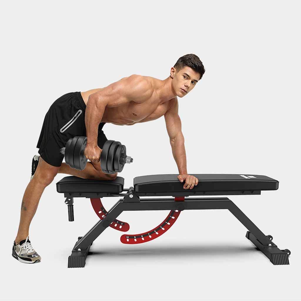 Bancos ajustables Barra de pesas profesional barra de pesas press de banca gimnasio comercial tabla de abdominales equipo de ejercicios abdominales tabla de ...