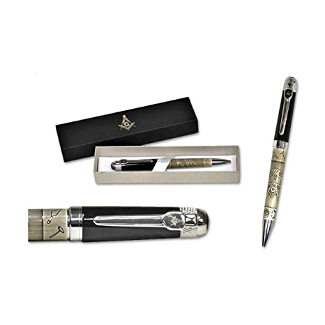 Square & Compass All Seeing Masonic Eye Ball Point Pen