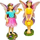 Mood Lab Fairy Garden – Fairy Figurines – Miniature Garden Kit – Walking Girls Set of 2 pcs for Outdoor or House Decor For Sale