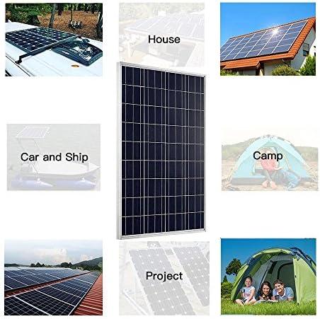 Auecore 200 W Polykristallines Solarmodul-Set für 24 V Batteriesystem W/PWM 20 A LED Solarregler + 5 m Kabel + Z-Halterungen