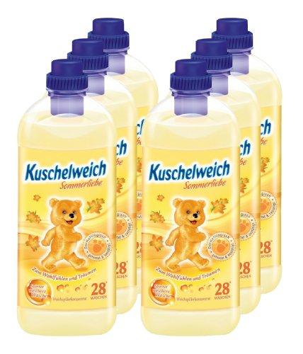 6er Vorteilspack Kuschelweich Weichspüler Weichspueler Sommerliebe 6000ml für 168 Anwendungen