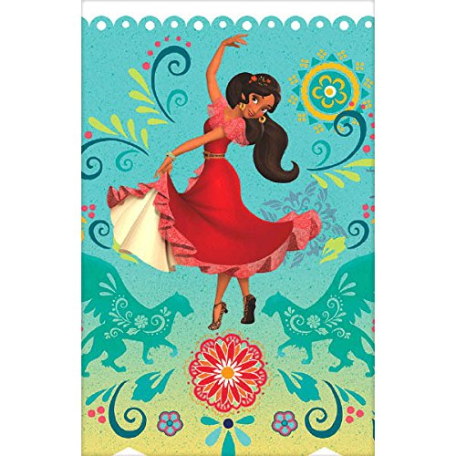 Amscan 20129 Dessert Plates Bundle for 16 Cups Beverage Napkins and Banner Table Cover Elena of Avalor Party Supplies Pack for 16 Guests: Straws