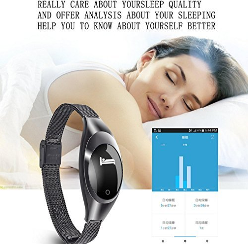 Women Fashion Smart Watch,ZIMINGU 2017 New Smart Bracelet Z18 with Blood Pressure Measure Heart Rate Monitor Pedometer IP67 Waterproof Bluetooth Wristband for Android and IOS