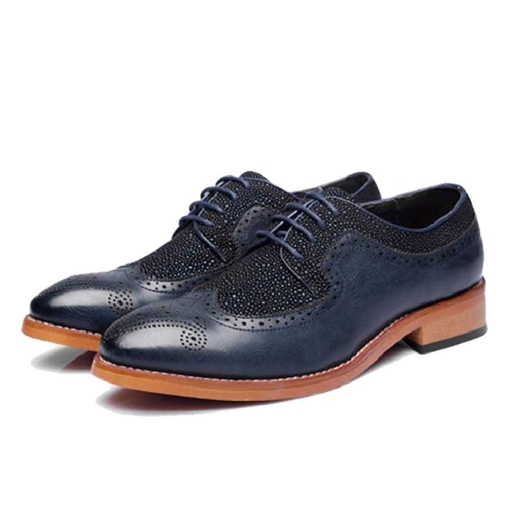 Starttwin Men's Formal Shoes Classic Brogue Lace-up Breathable Non-Slip Oxford Shoes