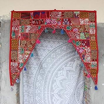 Embroidery Valances Wall Hanging Patchwork Toran Door Decor Vintage Room Decor