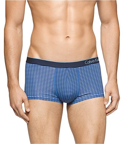 Calvin Klein Ck Grid - Calvin Klein Underwear Men's CK One Micro Low Rise Trunks, Urban Blue Slotted Grid Print, X-Large