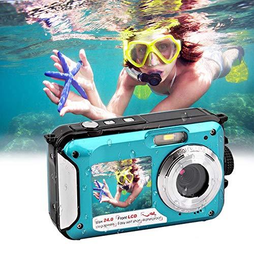 Womdee Unterwasserkamera 1080P Full HD Digitalkamera Wasserdicht 24 MP Videorecorder Selfie Camcorder Unterwasser Kamera…