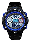Digital Sports Watch Boys 164FT Water Resistant Outdoor Easy Read Military Back Light Big Face Teenager Watch (Black)