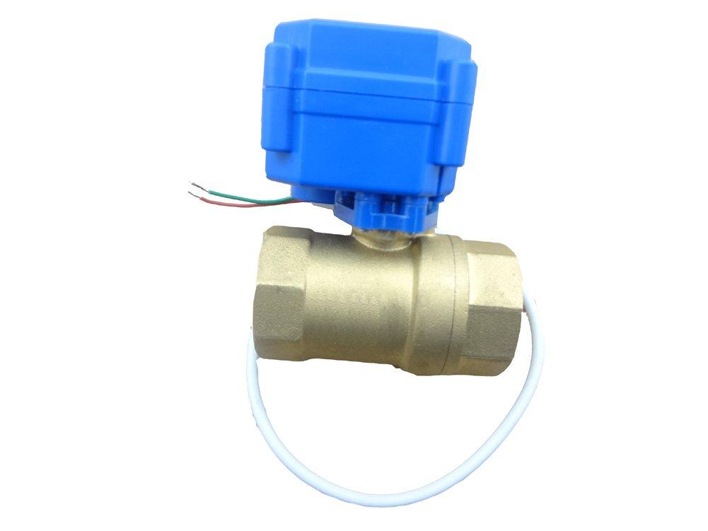 MISOL 1PCS of motorized ball valve 3/4''(BSP) DN20 / 12VDC / 2 way / electrical valve / ball valve with acuator / reduce port / CR01