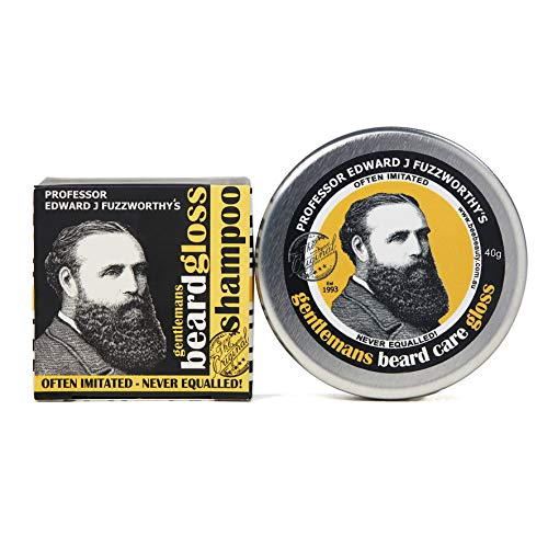Beard Care Kit Professor Fuzzworthy Beard Care Conditioner Balm & Best Beard Shampoo Bar | 100% Natural Chemical Free | Organic Essential & Kunzea Oils | Tasmania Australia