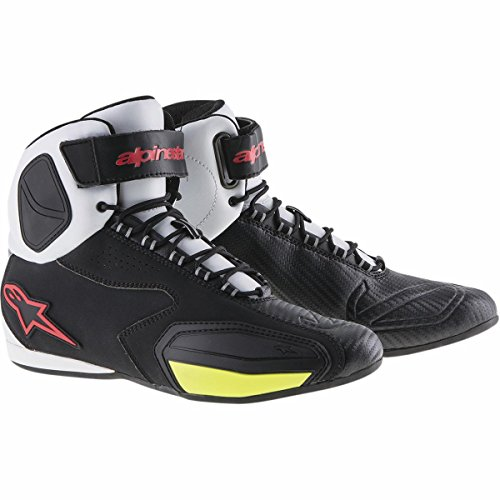 Alpinestars Faster Men's Street Motorcycle Shoes - Black/White/Red/Yellow / 6 by Alpinestars