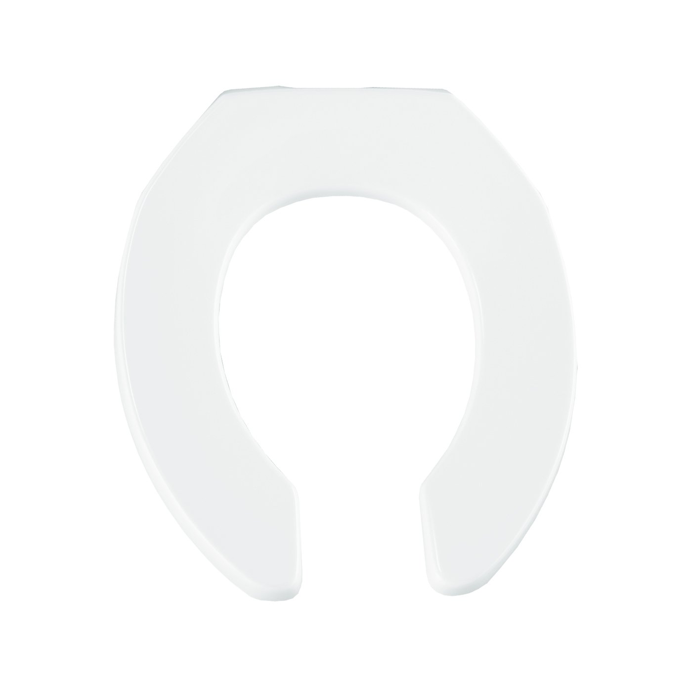 Bemis 955SSC000 Open Front Less Cover Round Toilet Seat with Self Sustaining Check Hinge, White