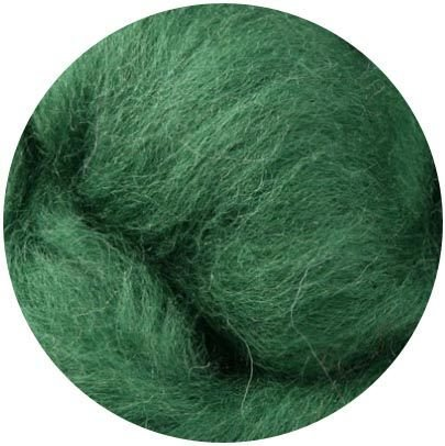 NZ Corriedale Wool Roving for Felting 1 Ounce Moss
