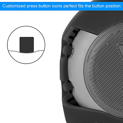 TXEsign Protective Silicone Stand Up Carrying Case for JBL Clip 3 Waterproof Portable Bluetooth Speaker (Black)