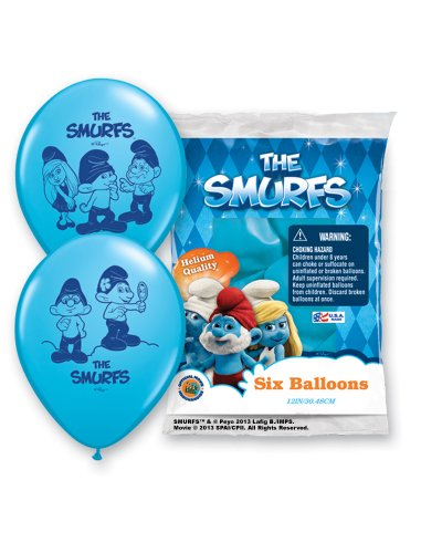 Pioneer National Latex The Smurfs 6 Count 12