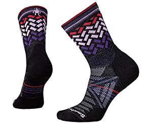 Smartwool Women's PhD Outdoor Light Pattern Mid Crew Socks (Charcoal) Small