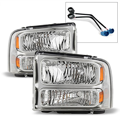 ACANII - For 1999-2004 Ford Super Duty F-250 F-350 Truck Excursion Conversion Headlights Lamp Driver + Passenger Side ()