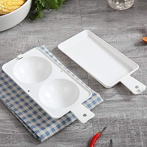 HSC Tragbarer Eierkocher aus Kunststoff, Mikrowelle, Dampf, rund, Frühstückstopf, Küchenzubehör