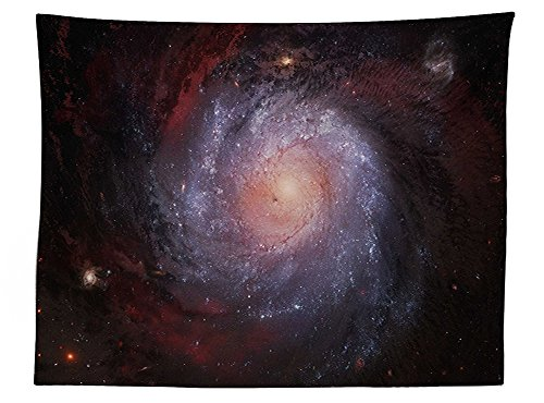 vipsung Galaxy Tablecloth Spiral Nebula Print Outer Space Theme Far Galaxy with Stardust Starry Night Picture Dining Room Kitchen Rectangular Table (30h Gray Nebula Tables)