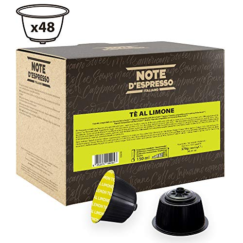 Note D Espresso Capsulas de Te al Limon compatibles con cafeteras Dolce Gusto - 48 Unidades de 12g, Total 576 g