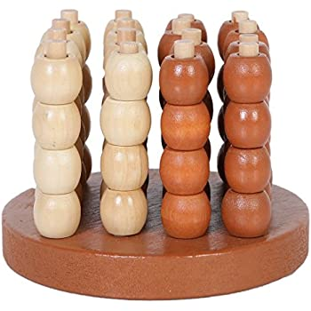 PP-NEST Wooden 3D Connect Four Chess Spatial Thinking Games SZQ-01