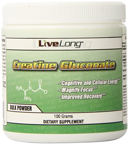 Cheap LiveLong Nutrition Creatine Gluconate 100 g.3 Pound