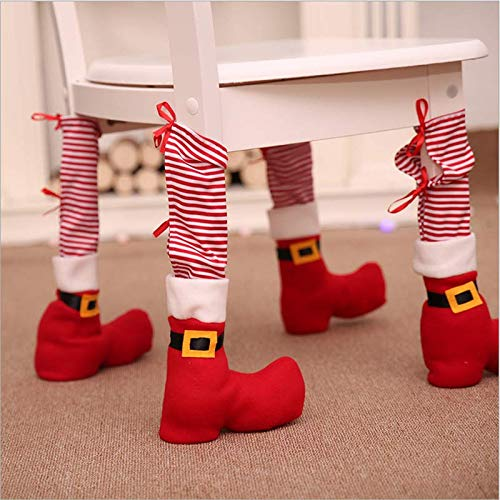 DE TI LILIANG Christmas Tables and Chair Leg Covers Chair Stocking Party Christmas Decoration 2
