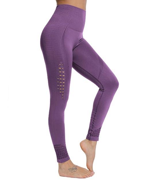 FITTOO Damen Power Flex Yoga Hosen Training Laufende ...