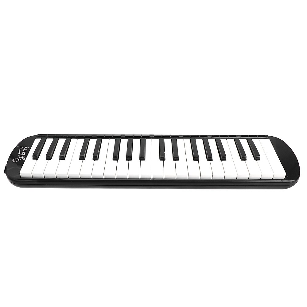 Glarry 37-Key Melodica with Mouthpiece & Hose & Bag Black by funning (Image #3)