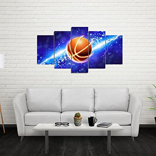 - Garth Canvas Art Basketball Sport Basket Goal Painting Wall Pictures For Boys Room Baby Nursery Decor Kids Room Basketball Boys Gift (Unframed)