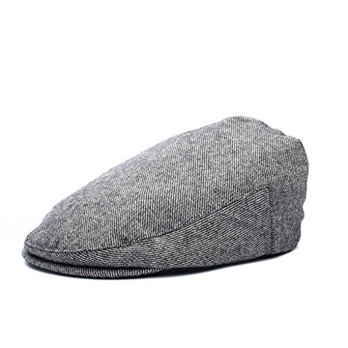 (Born to Love - Boy's Tweed Page Boy Newsboy Baby Kids Driver Cap Hat (XXS, Grey)