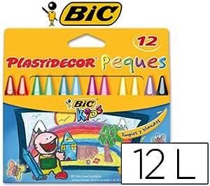 LAPICES PLASTIDECOR PEQUES CAJA DE 12 COLORES (12 unid.): Amazon.es: Oficina y papelería