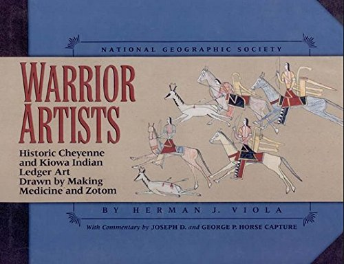 Warrior Artists - Historic Cheyenne And Kiowa Indian Ledger Art, Drawn By Making Medicine And Zotom