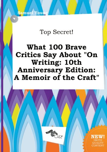[PDF] Mobi On Writing: A Memoir of the Craft Full Download
