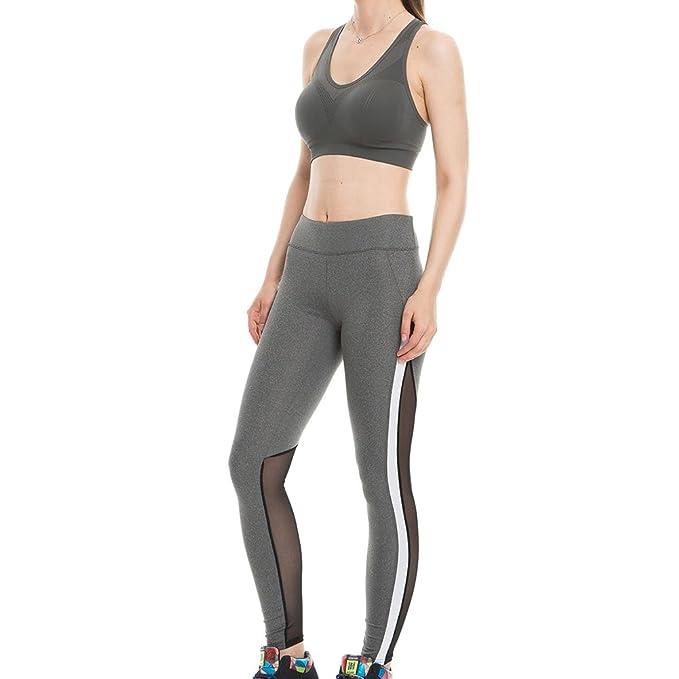 Juleya Mujer Leggins Push Up Tights Yoga - Mujeres Leggings Pantalones de  Chándal Elástico Pantalones de Fitness Malla Patchwork Cintura Alta de  Correr ... da840cadd07e
