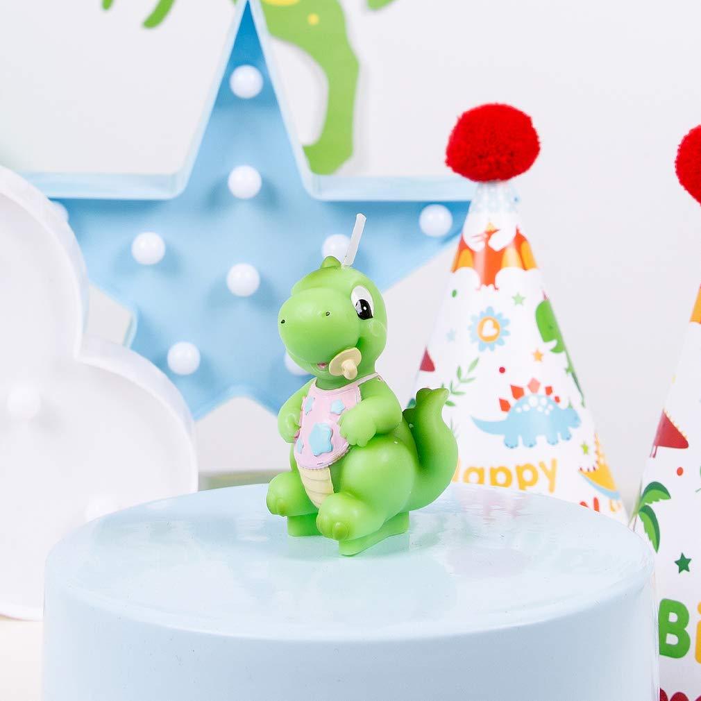 charminggifts Zoo Animal sin humo vela de cumpleaños para ...