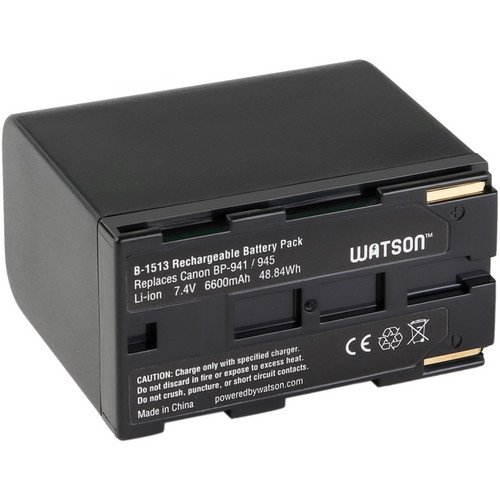 Watson BP-945 Lithium-Ion Battery Pack (7.4V, 6600mAh) -Replacement for Canon BP-945 Battery