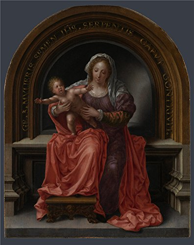 For sale Polyster Canvas ,the Best Price Art Decorative Prints Oil Painting 'Jan Gossaert The Virgin