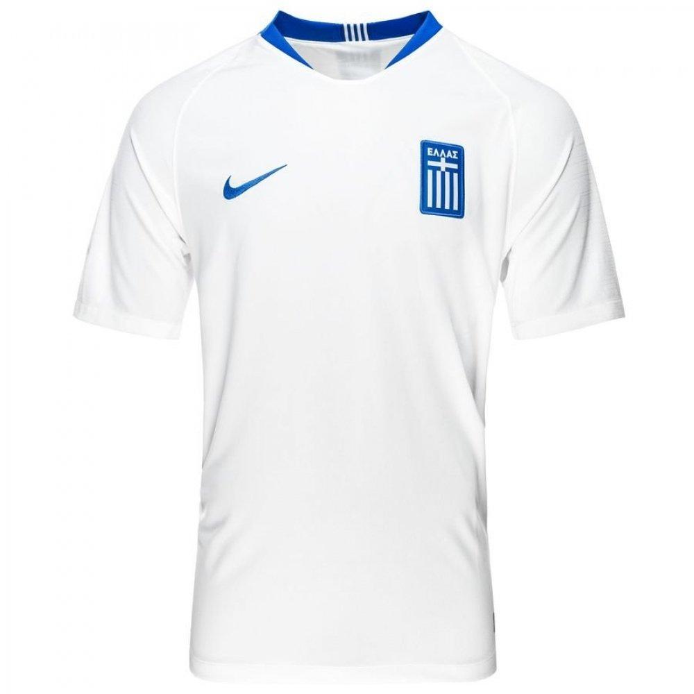 2018-2019 Greece Home Nike Football Shirt B07BXZFSQKWhite Small 34-36\