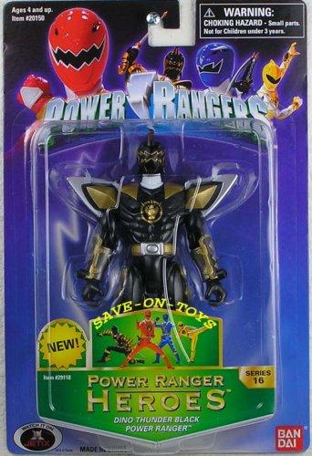 (Power Rangers Heroes Dino Thunder Series 16 Action Figure Black Ranger)