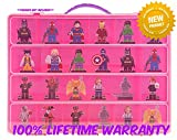 Dimensions Carrying Case - Stores Dozens Of Figures - Durable Toy Storage Organizers By Life Made Better - Pink