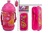 Adorable Disney Princess Lunchtime, Dining, & Back to School Bundle: 2 Items- BPA Free Sip-N-Snack Canteen & FlatwareGoPak