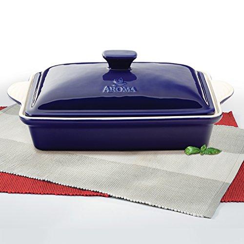 Aroma Housewares Doveware Casserole, 3.0 quart, Cobalt Blue