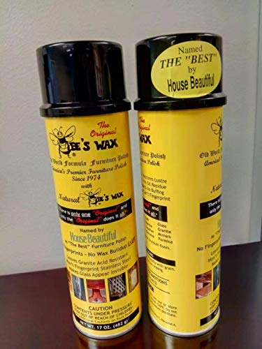 Original Bee's Wax All Purpose Polish Spray Beeswax 17 oz (Twin Pack/2 Cans) (Wax Furniture Beeswax)