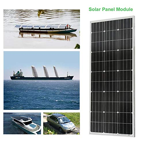 Peppydazi Moncrystalline Solar Panel Module 100W Boat Car Solar Battery Charger by Peppydazi (Image #3)