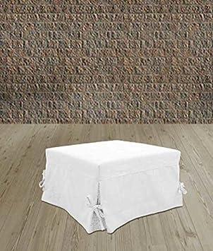 SOFIA Pouf letto singolo con materasso h 10cm di ottima qualit/à e rete italiana Tessuto Beige Ponti Divani