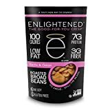 Enlightened Plant Protein Gluten Free Roasted Broad (Fava) Bean Snacks, Garlic and Onion, 3.5 Ounce (Pack of 6)